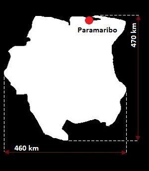 Surinam mapa