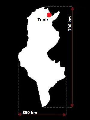 Tunezja mapa