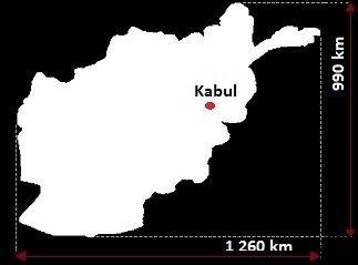 Stolica Afganistanu - mapa