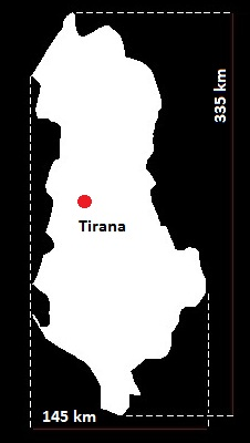 Tirana mapa