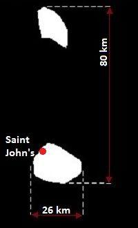 Saint John's mapa