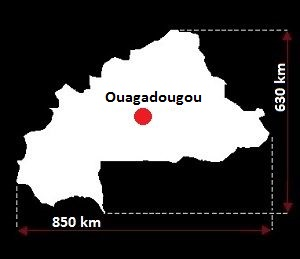 Wagadugu mapa