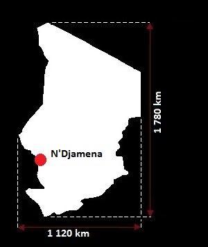 Ndżamena mapa