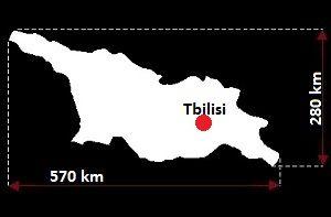 Tbilisi mapa