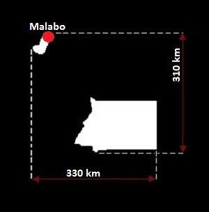 Malabo mapa
