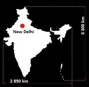 Nowe Delhi mapa