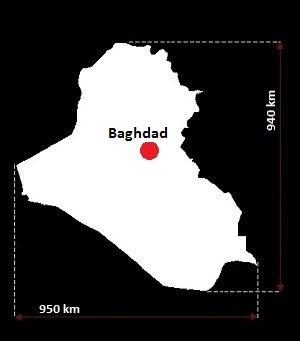 Stolica Iraku - mapa