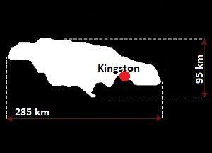 Stolica Jamajki - mapa