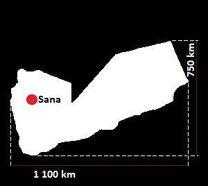 Stolica Jemenu - mapa