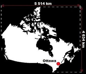Stolica Kanady - mapa