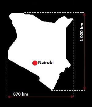 Stolica Kenii - mapa
