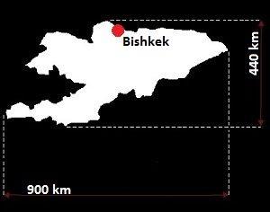 Stolica Kirgistanu - mapa