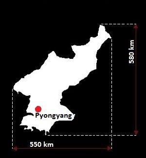 Stolica Korei Północnej - mapa