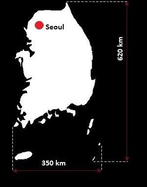 Stolica Korei Południowej - mapa