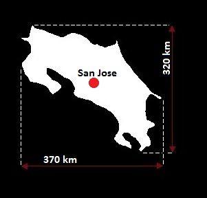 Stolica Kostaryki - mapa