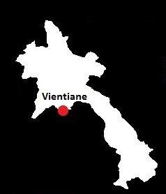 Stolica Laosu - mapa