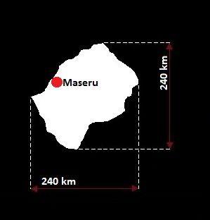 Stolica Lesotho - mapa