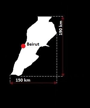 Stolica Libanu - mapa