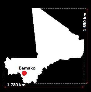 Stolica Mali - mapa