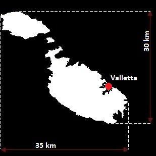 Stolica Malty - mapa