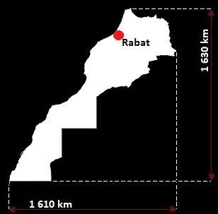 Stolica Maroko - mapa