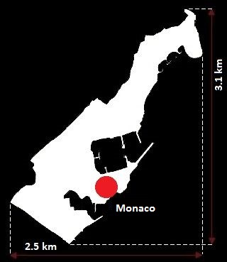 Stolica Monako - mapa
