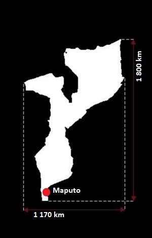 Stolica Mozambiku - mapa