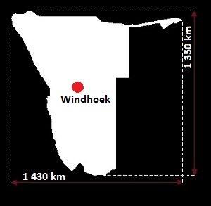 Stolica Namibii - mapa