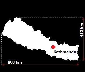 Stolica Nepalu - mapa