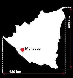 Stolica Nikaragui - mapa