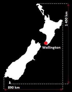 Stolica Nowej Zelandii - mapa