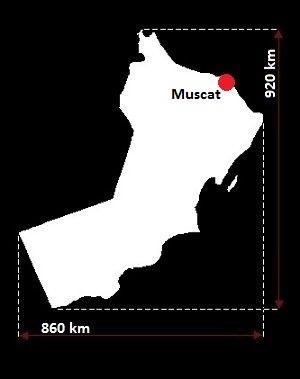 Stolica Omanu - mapa