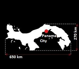Stolica Panamy - mapa