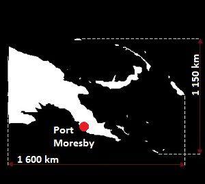 Stolica Papui Nowa-Gwinea - mapa
