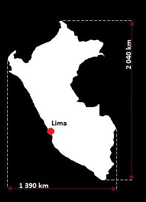 Stolica Peru - mapa