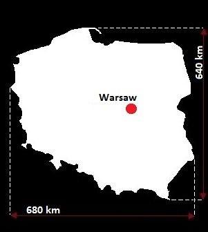 Stolica Polski - mapa
