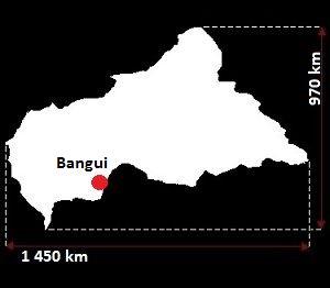 Stolica Republiki Środkowoafrykańskiej - mapa