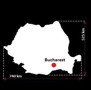 Stolica Rumunii - mapa
