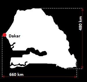Stolica Senegalu - mapa