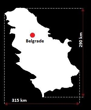 Stolica Serbii - mapa