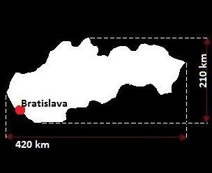 Stolica Słowacji - mapa