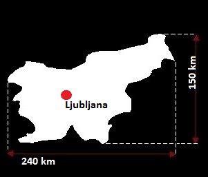 Stolica Słowenii - mapa