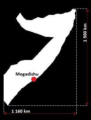 Stolica Somalii - mapa
