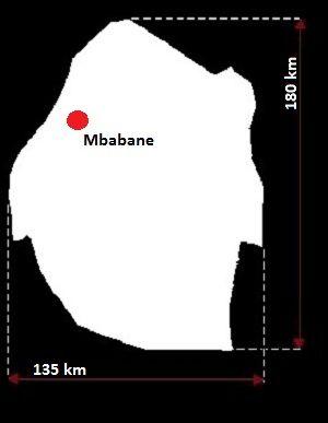 Stolica Suazi - mapa