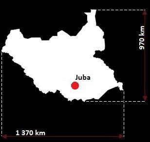 Stolica Sudanu Południowego - mapa