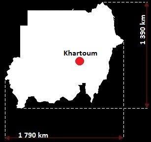 Stolica Sudanu - mapa