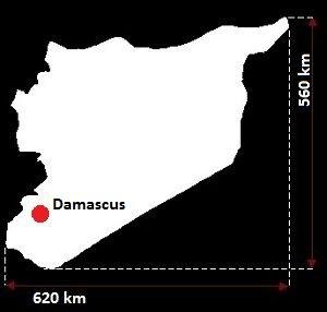 Stolica Syrii - mapa