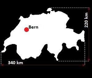 Stolica Szwajcarii - mapa