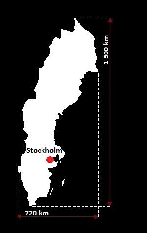 Stolica Szwecji - mapa