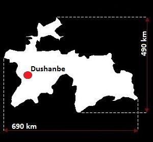Stolica Tadżykistanu - mapa